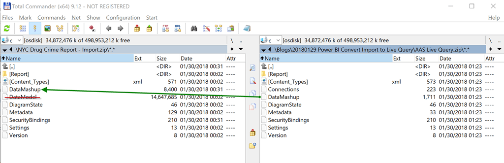 Converting a Power BI Desktop File from Import to Live Query