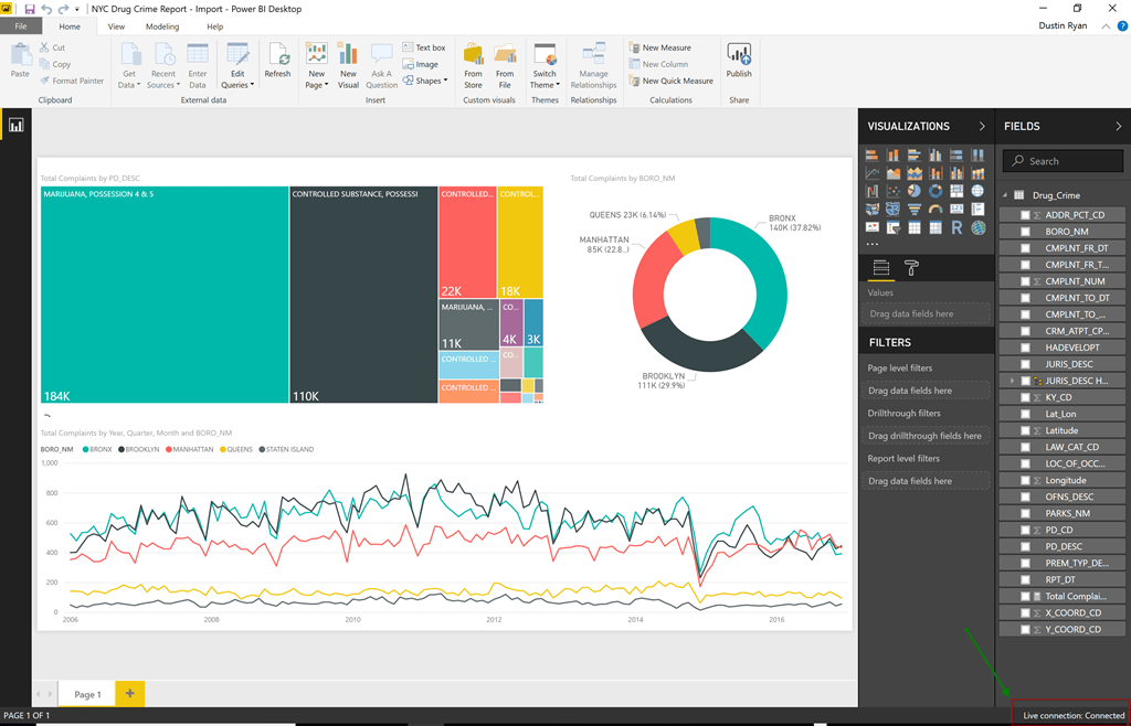 Converting a Power BI Desktop File from Import to Live Query | Data