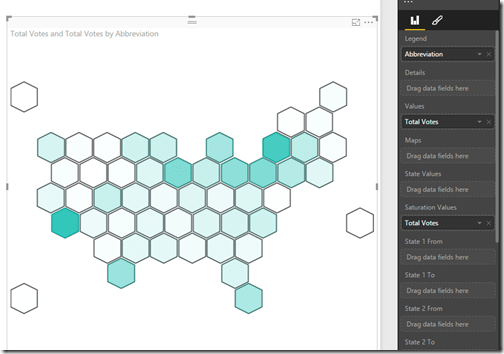 Basic hex tile grid map in Power BI