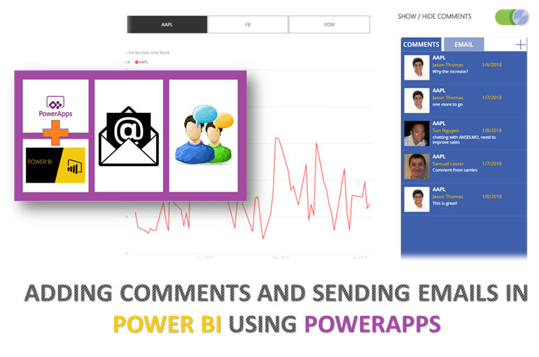 Adding Comments & Sending Emails in Power BI using PowerApps