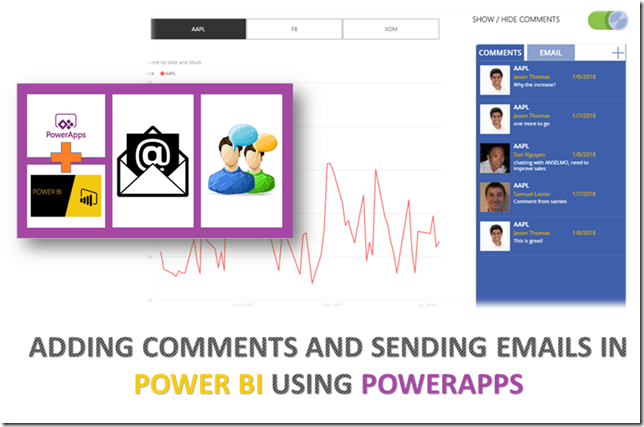 Adding comments and sending emails in Power BI using PowerApps