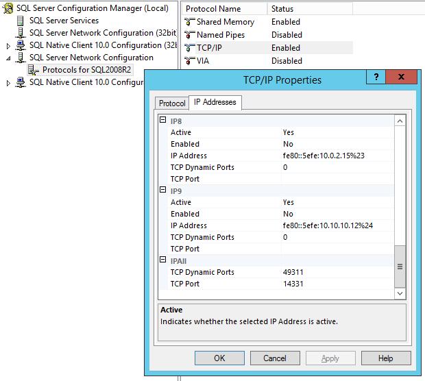 KerberosP2_SQLStaticPort
