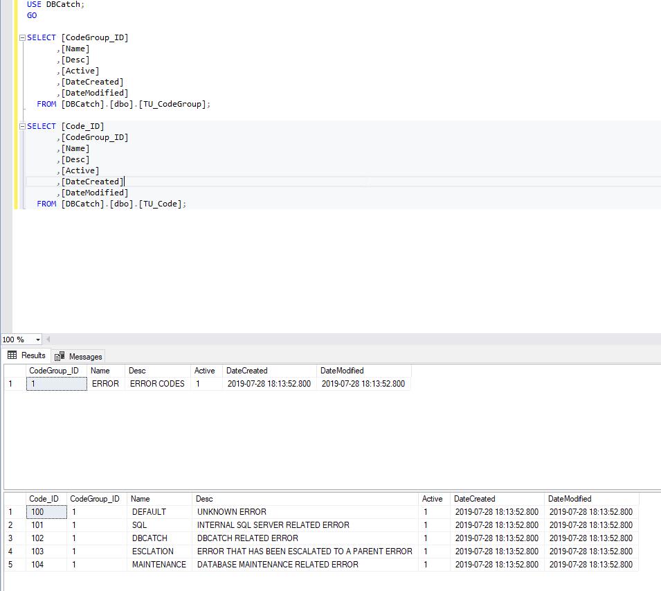 sql error engine tables