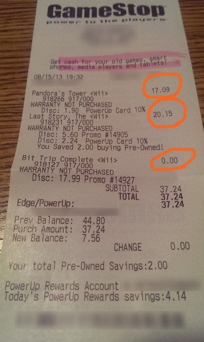 Booya! Deal! B2G1 Wii Operation Rainfall At Gamestop? B2G1 Wii Operation Rainfall At Gamestop? Rainfall Receipt