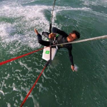 kitesurf chute strapless vague