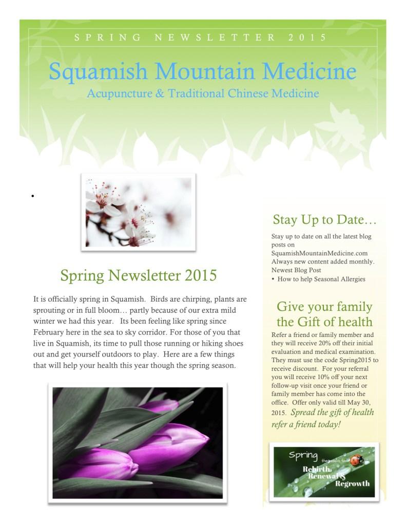 Spring Newsletter
