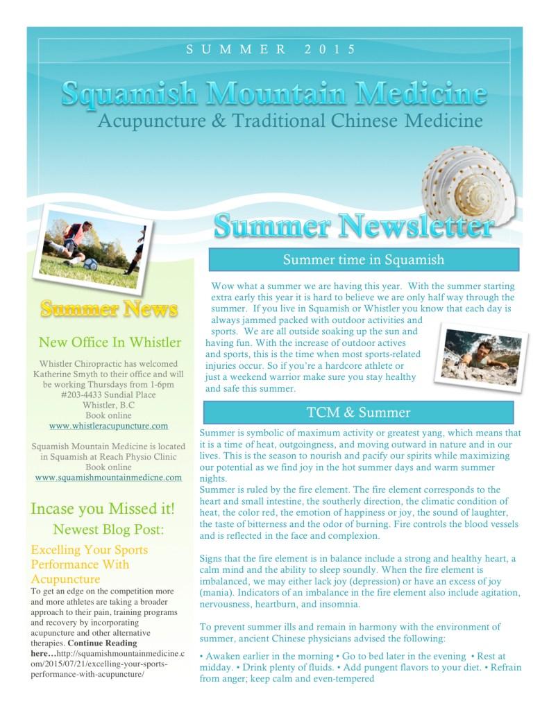 Summer Newsletter 2015