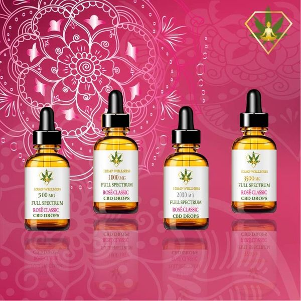 Hempwellness Rose Classic CBD Oil Full Spectrum Tincture