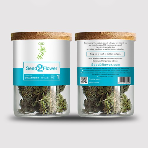 Seed2Flower CBD Flower Jars 14g