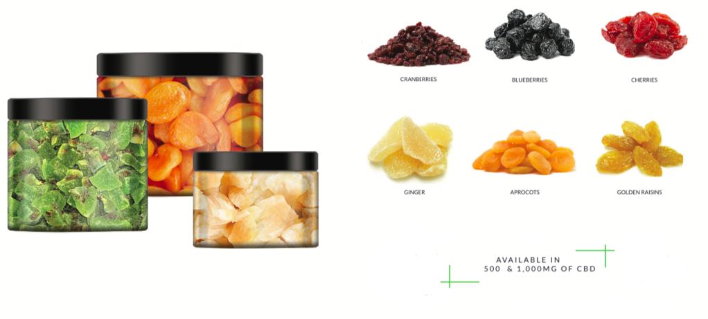 Puur CBD Dried Fruits 500mg