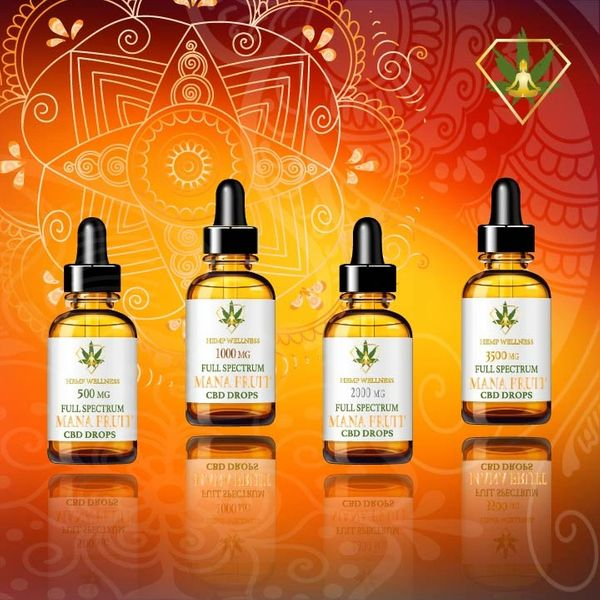 Hempwellness Mana Fruit CBD Tincture drops
