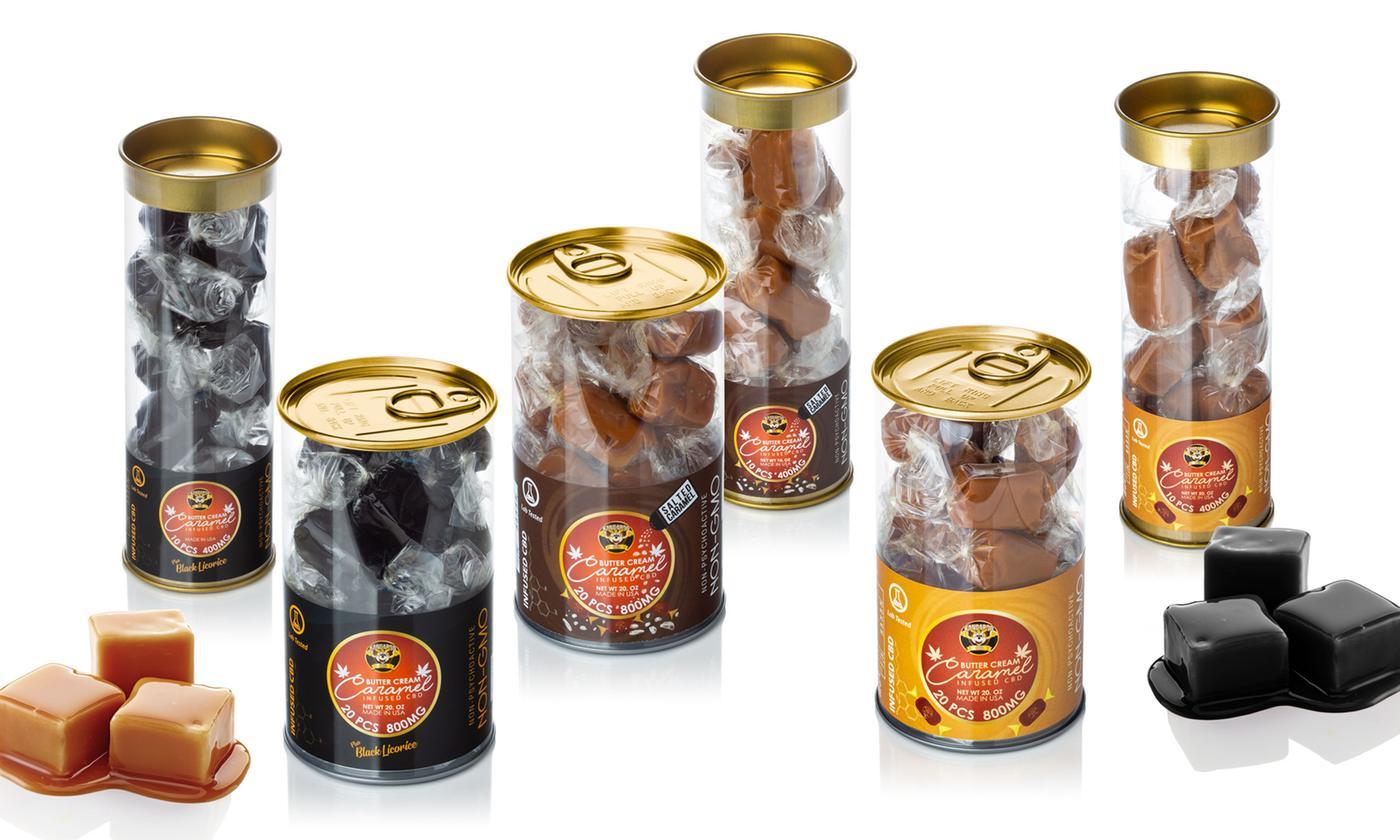 Kangaroo CBD Butter Cream Caramel Toffee Candy