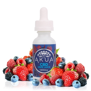 AKUA - Vape juice Mixed Berries 250mg, 600mg, 1200mg