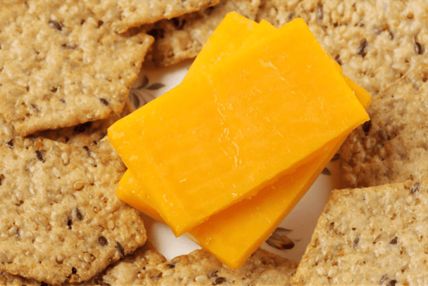 whole grain crackers with cheddar cheese night snack
