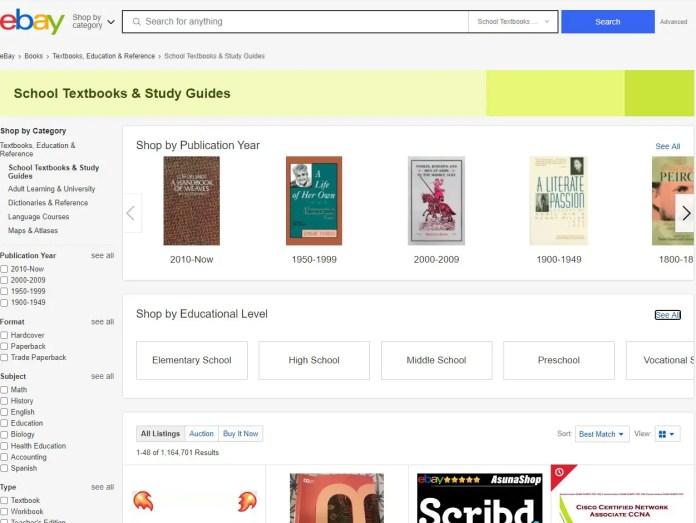 ebay college textbooks for educators