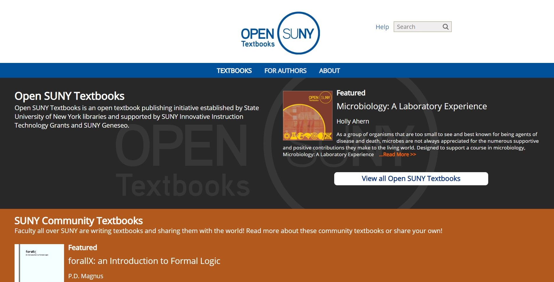 opensuny free college textbooks download website