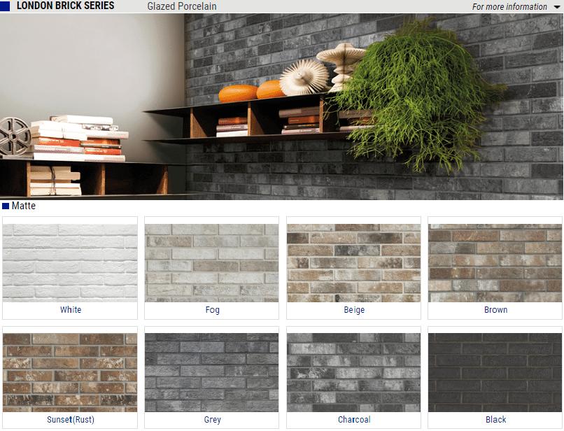 london brick series matte glazed