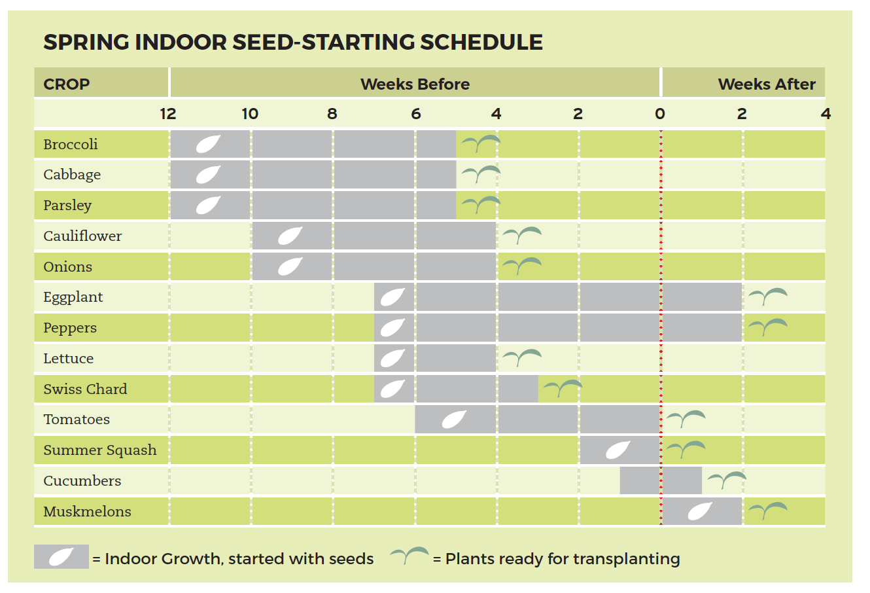 Planting Chart Cheat Sheets