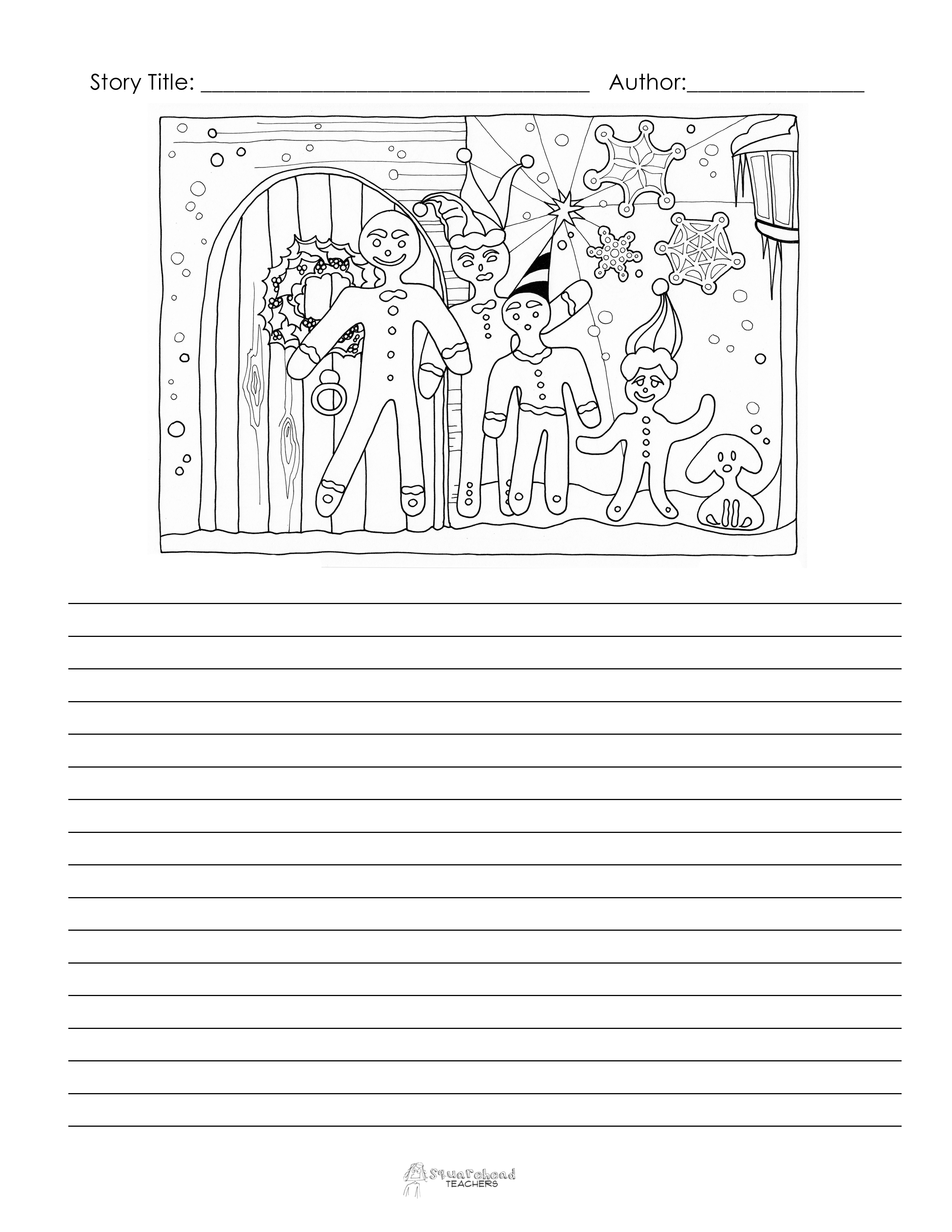 Christmas Winter Story Starter Pages Free