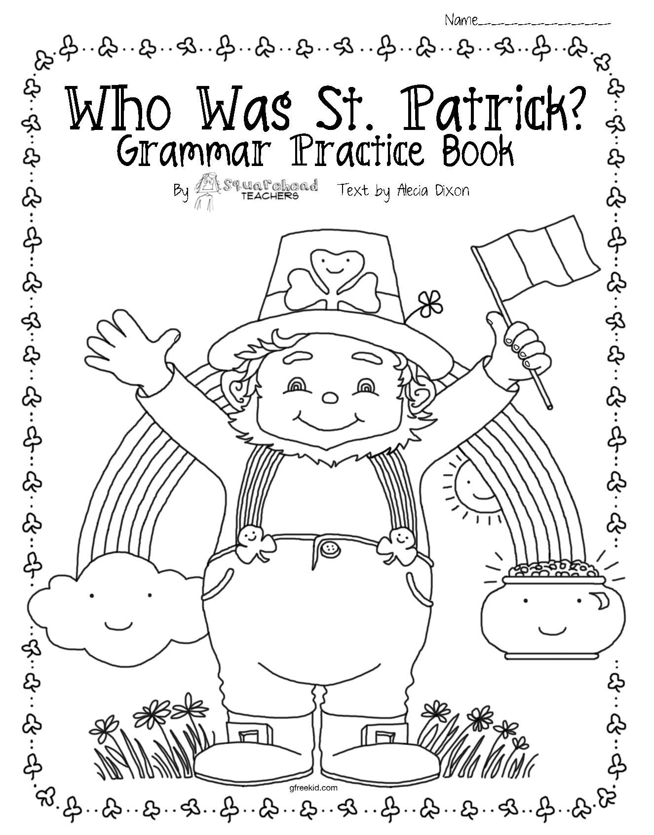 Who Was St Patrick Upper Grade Grammar Amp Comprehension Packet