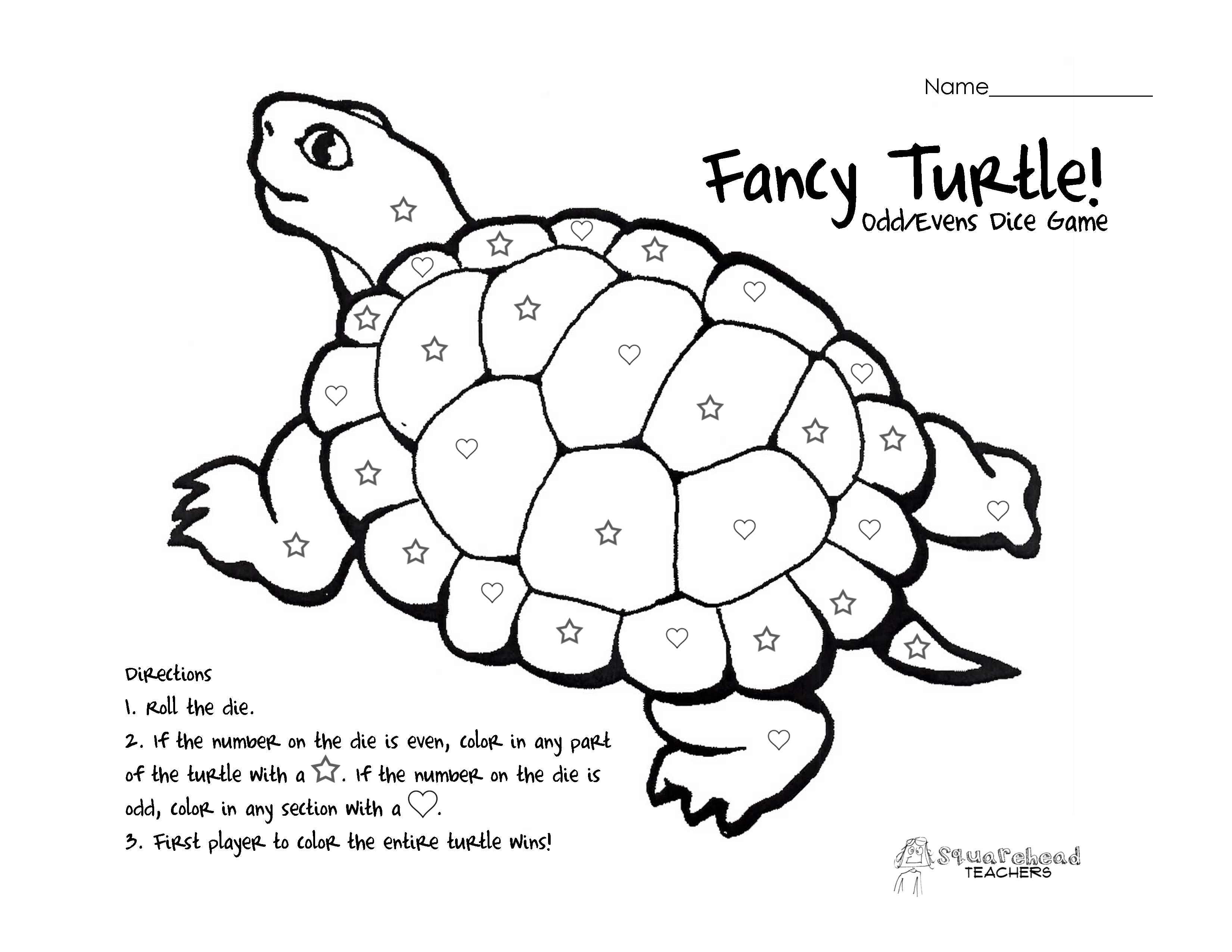 Fancy Turtle Odd Evens Dice Game