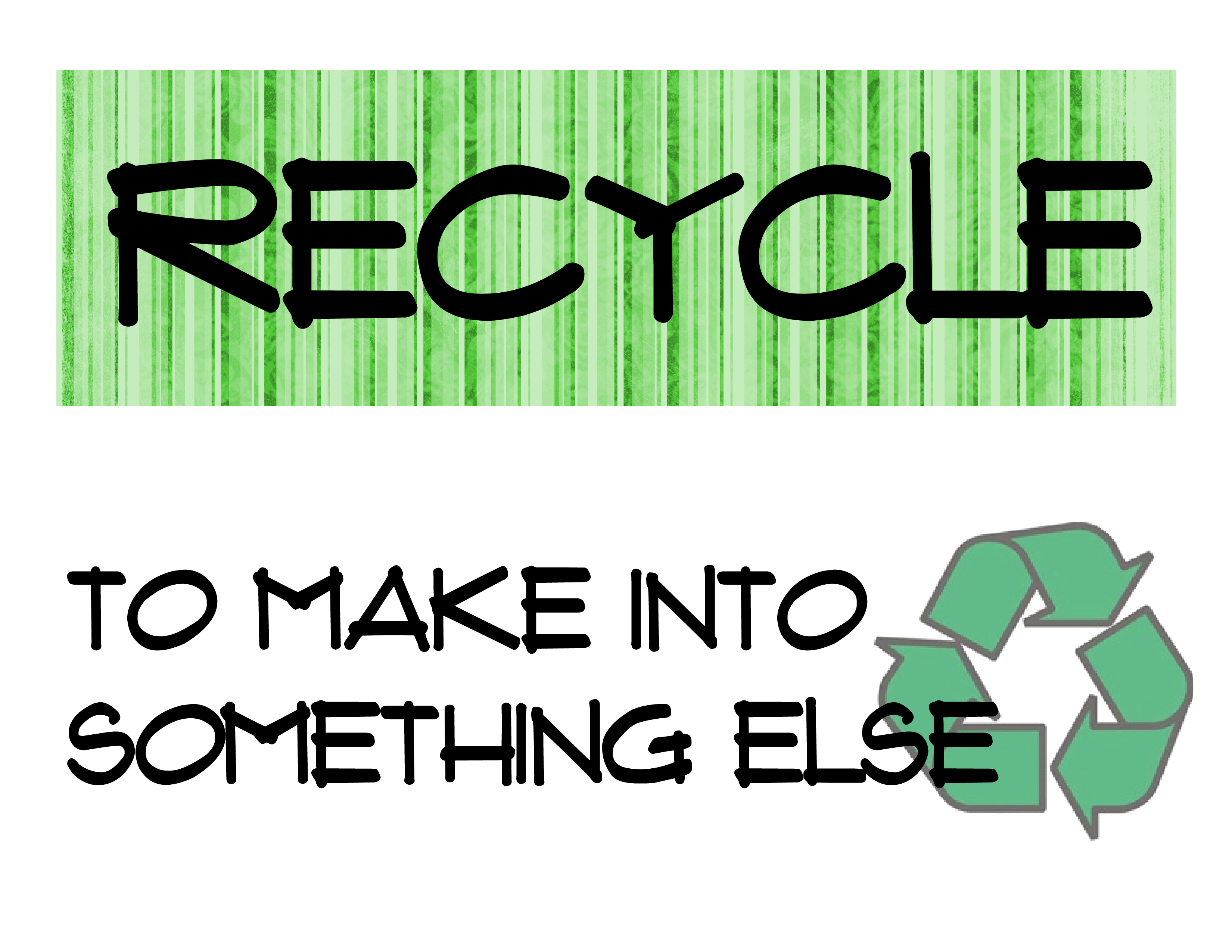 The 3 R S Of Recycling Printables