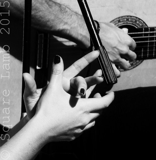 Traditional flamenco guitar accompanied by hand-clapping!