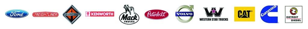 Supported brands: Ford, Freightlinder, International, Kenworth, Mack Trucks, Peterbilt, Volvo, Western Star Trucks, CAT, Cummins, Detroit Diesel