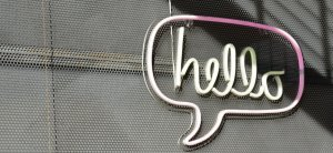 featured image with the word hello in a speech bubble