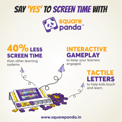 Say yes to screen time with Square Panda instagram post