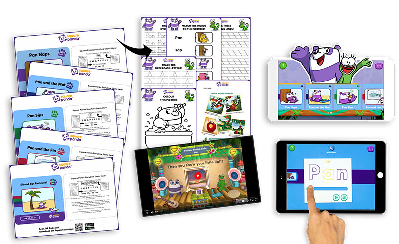 The SquareTales early learning kit