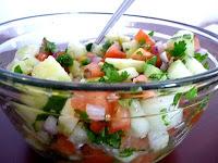 Lebanese Chopped Salad with Lime Dressing