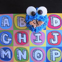 Cookie Monster Chocolate Chip Cookie Dough Cupcakes