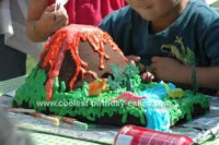 Easy Volcano Cake for Your Dinosaur-Loving Child