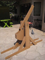 DIY Fun: Cardboard Trebuchet and Water Balloons
