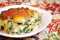 Spinach and Artichoke Dip Lasagna with Chicken