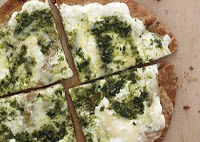Fast Pesto Pizza Appetizers: