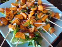 Spicy Sweet Potato Appetizers on a Stick: So Easy and So Yummy
