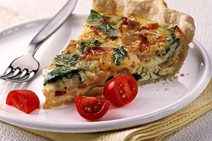 Most Requested Spinach and Bacon Quiche
