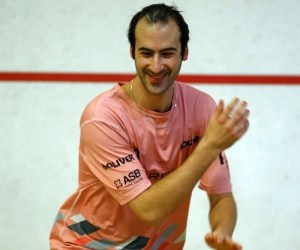 Simon does some ghosting in his favourite pink shirt