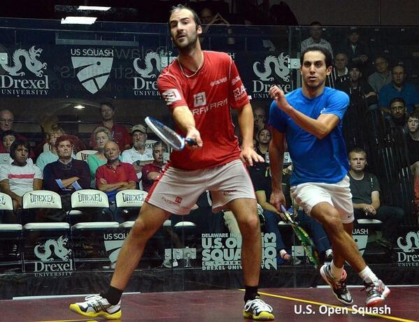 Simon Rosner chops Tarek Momen