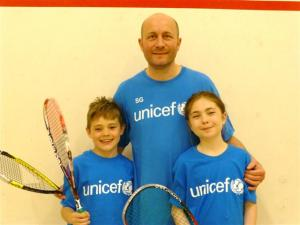 Stuart Guest with his children Jack and Joanne