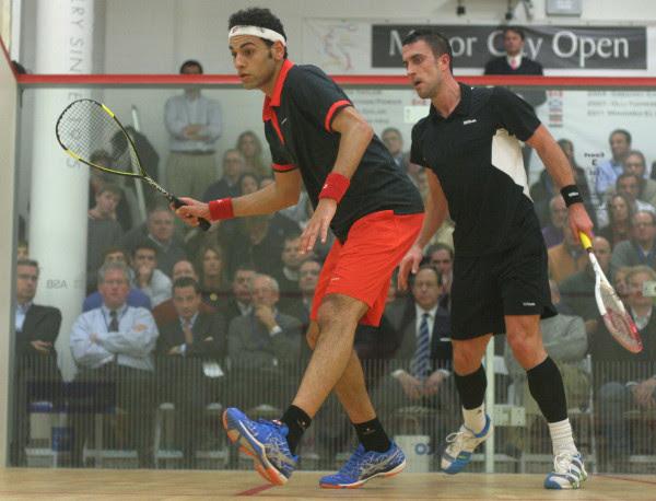 Mohamed Elshorbagy on the attack against Peter Barker