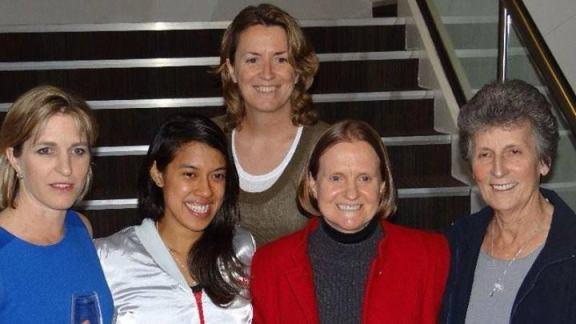 Nicol David meets squash legends Sarah Fitzgerald, Liz Irving, Vicki Cardwell and Heather McKay