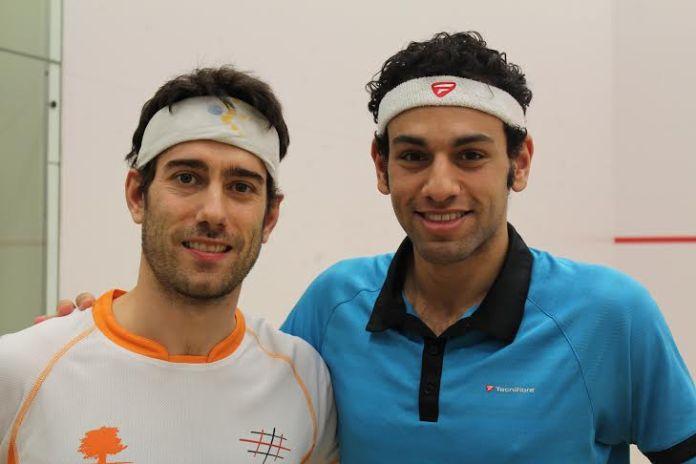 Mohamed Elshorbagy and Borja Golan (left)