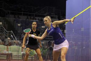 Laura Massaro shows great control and composure