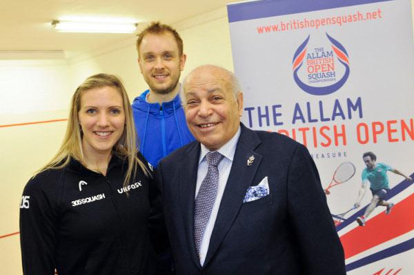 Laura Massaro and James Willstrop with sponsor Assem Allam