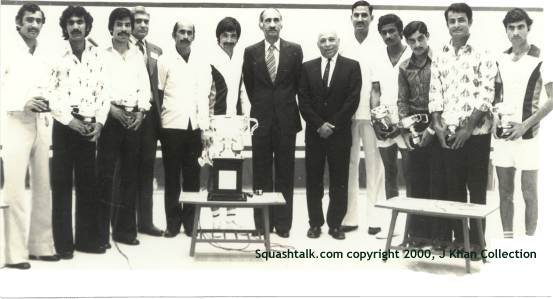 Pakistani legends host the World Championships during the nation's squash glory days