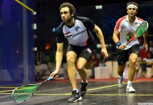 Ramy Ashour goes through as Karim Darwish pulls up injured