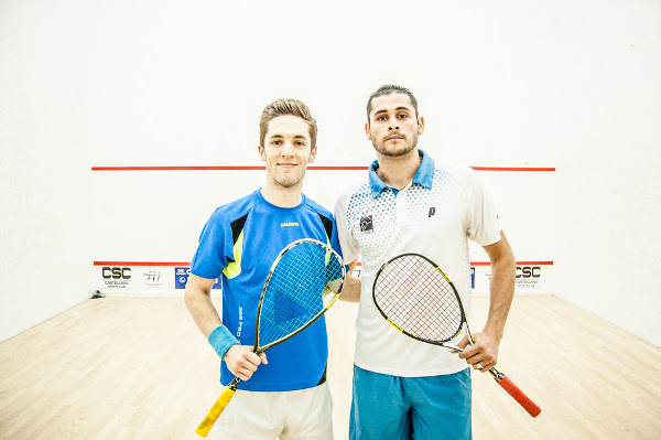 MAD FOR IT: Ben Coleman (left) wins in Madrid